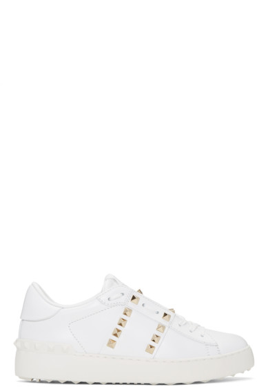 Valentino - White 'Rockstud Untitled' 11 Open Sneakers
