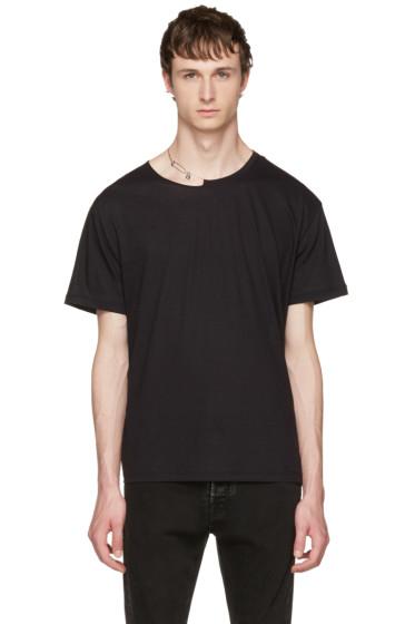 Valentino - Black Pin Necklace Punk T-Shirt