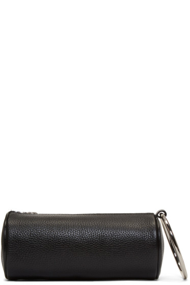 Kara - Black Leather Ring Pouch