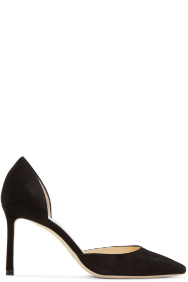 Jimmy Choo - Black Suede Esther D'Orsay Heels