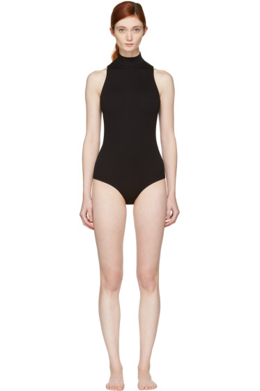 Fleur du Mal - Black Turtleneck Crossback Bodysuit