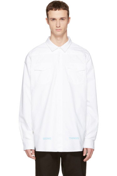 Off-White - White Brushed Arrows Shirt