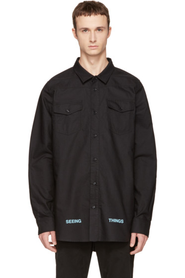 Off-White - Black Brushed Arrows Shirt