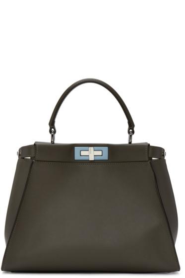 Fendi - Grey Regular Peekaboo Bag