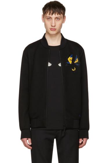 Fendi - ブラック バタフライ ボンバー ジャケット
