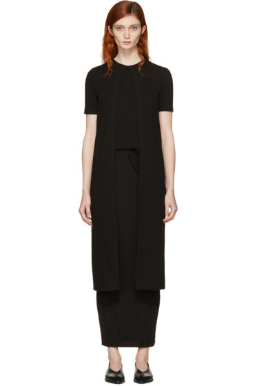 Rosetta Getty - Black Long Split Panel T-Shirt