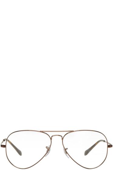 Ray-Ban - Brown Pilot Glasses
