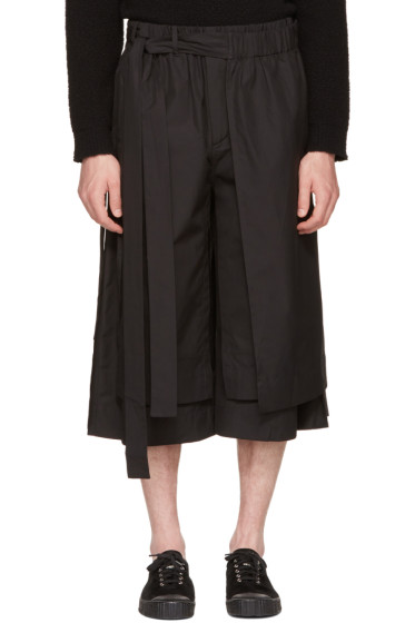 Craig Green - Black Layered Track Shorts