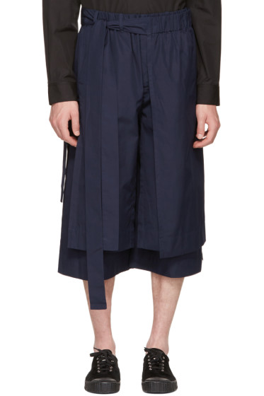 Craig Green - Navy Layered Track Shorts