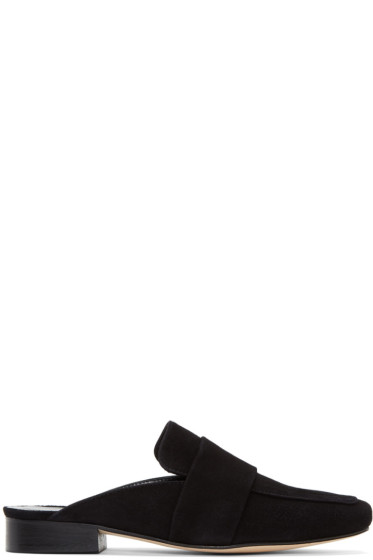 Dorateymur - Black Suede Filiskiye Slippers