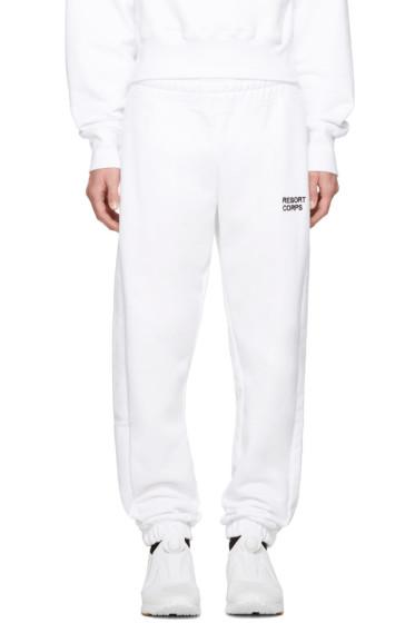 Resort Corps - SSENSE Exclusive White Survetement Lounge Pants