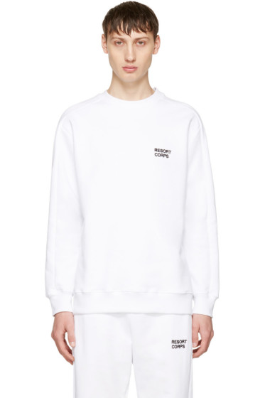 Resort Corps - SSENSE Exclusive White Survetement Sweatshirt