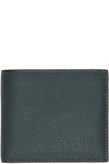 Valextra - Green 6CC Bifold Wallet