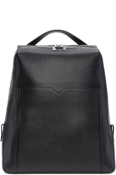 Valextra - Black V Backpack