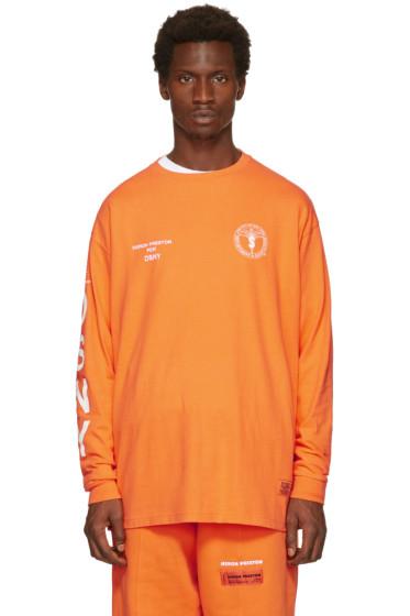 Heron Preston - Orange DSNY Edition Long Sleeve 'Uniform' T-Shirt