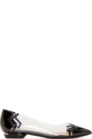 Nicholas Kirkwood - Black PVC Chevron Flats