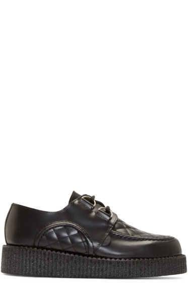 Underground - Black Quilted Leather Wulfrun Creepers