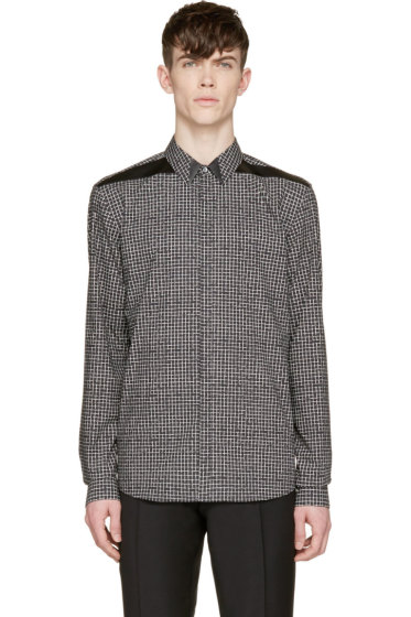 Costume National - Black & White Grid Print Shirt
