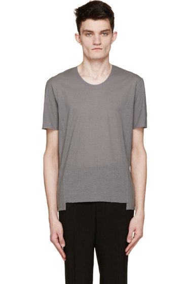 Costume National - Grey Exposed Seams T-Shirt