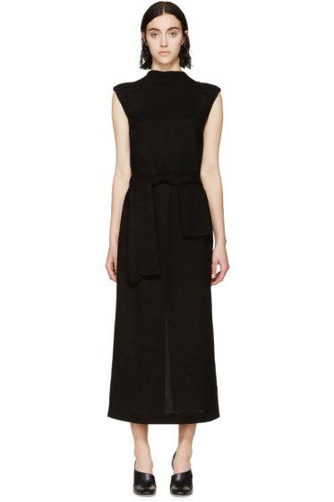 Loewe - Black Woven V-Back Dress