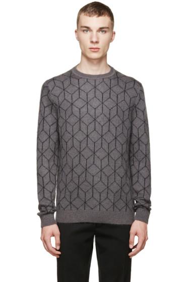 Christopher Kane - Grey Mohair 3D Cube Sweater