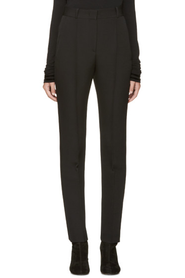 Givenchy - Black Satin Inset Trim Trousers