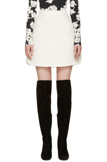 Giambattista Valli - Ivory Textured A-Line Skirt