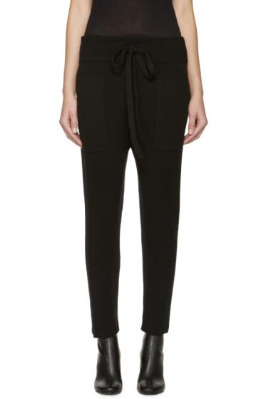 Haider Ackermann - Black Wool Knit Lounge Pants