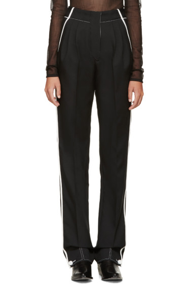 Paco Rabanne - Black & White Pleated Trousers