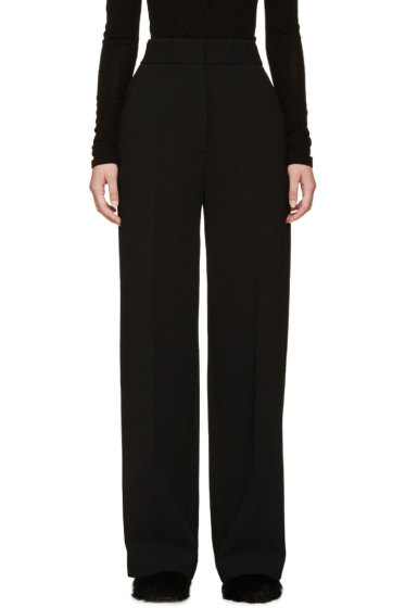 Rosetta Getty - Black Wide-Leg Twill Trousers