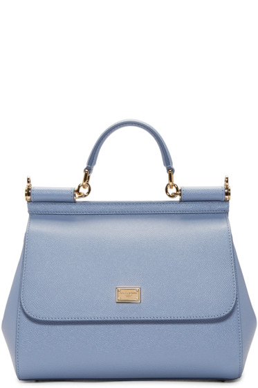 a32c35eb6b7e Dolce   Gabbana Blue Medium Miss Sicily Bag from SSENSE - Styhunt
