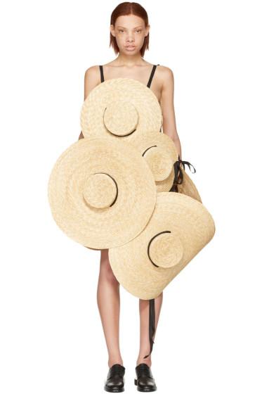 Jacquemus - SSENSE Exclusive Beige 'Le Chapeau Santon' Straw Hat Dress
