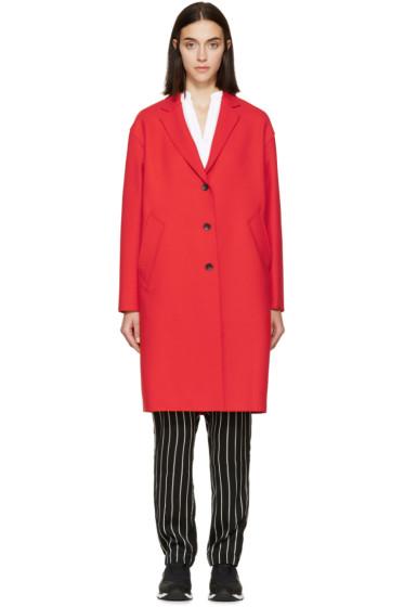 Rag & Bone - Red Wool Blankett Coat