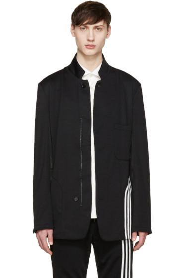 Y-3 - Black Fluid Stripe Blazer