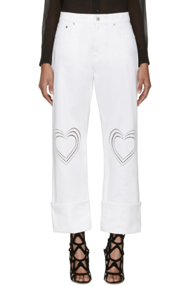 Christopher Kane - White Heart Boyfriend Jeans