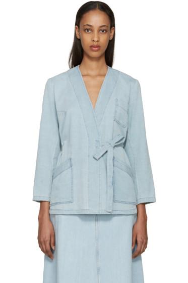 MM6 Maison Margiela - Blue Denim Tie Jacket