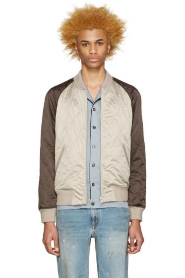 Marc Jacobs - Beige & Brown Bomber Jacket
