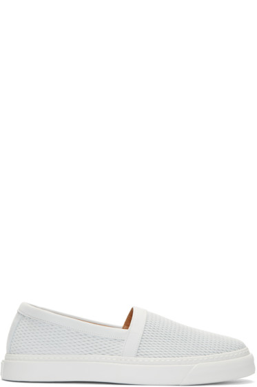 Marc Jacobs - White Leather Low-Top Sneakers
