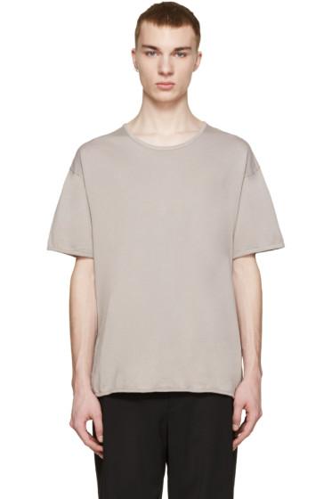 Robert Geller - Grey Crew T-Shirt