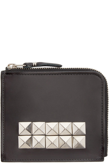 Comme des Garçons Wallets - Black Leather Studded Wallet
