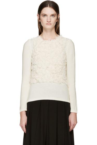 Comme des Garçons - Cream Textured Sweater