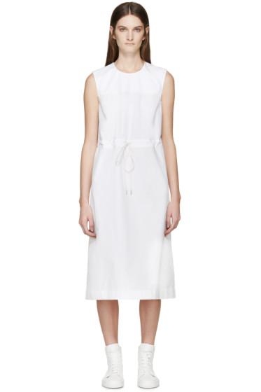 Jil Sander - White Drawstring Dress