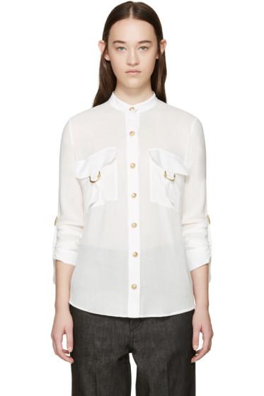 Balmain - White Pocket Shirt