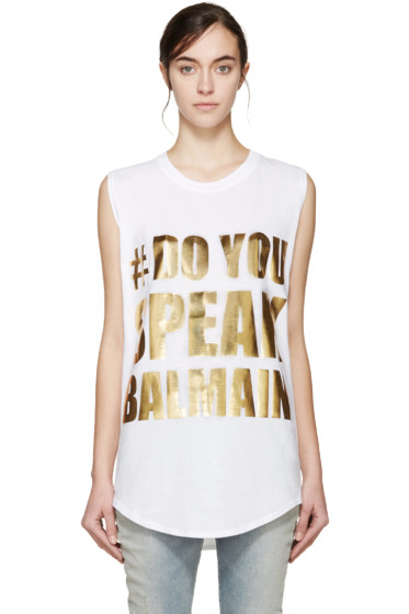 Balmain - White Do You Speak Balmain T-Shirt