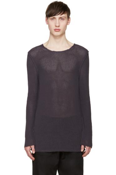 Damir Doma - Purple Open Knit Kes Sweater