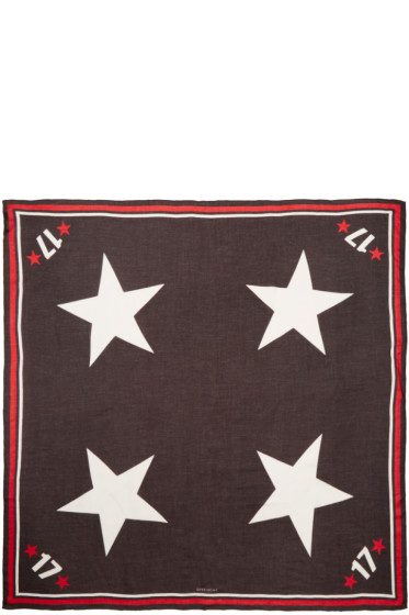 Givenchy - Tricolor Stars & Numbers Scarf