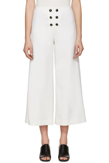 Proenza Schouler - Ivory Wool Tropical Trousers