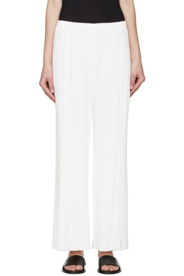Proenza Schouler - White Pleated Trousers