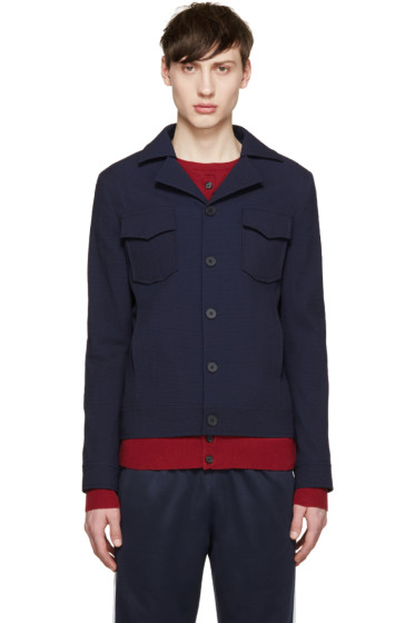 Carven - Navy Seersucker Shirt