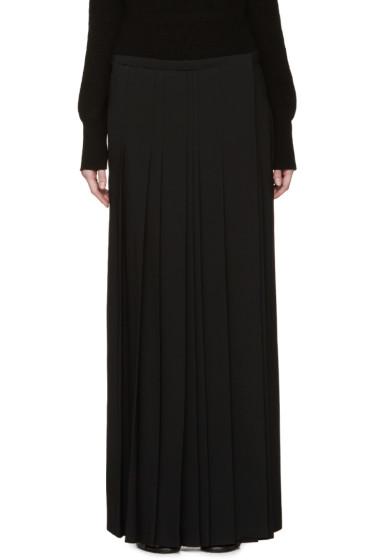 Chloé - Black Cady Pleated Wrap Skirt